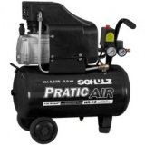 Compressor de Ar Pratic Air Sem Kit CSA 8,2/25LT 2,0HP SCHULZ